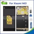 Оригинальный ЖК-Экран Для Xiaomi Mi3 Mi 3 M3 ЖК-Дисплей Сенсорный Экран Digitizer Замена Ассамблея С Рамкой + Инструменты + Adhensives