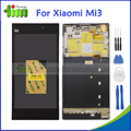 Tela de lcd original para xiaomi mi3 mi 3 m3 display lcd substituição da tela de toque digitador assembléia com frame + ferramentas + adhensives