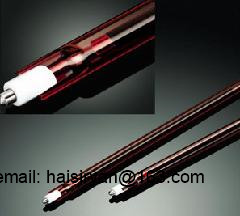 ruby red middle wave IR emitters halogen pipe heater quartz heating elements infrared tube heat lamp