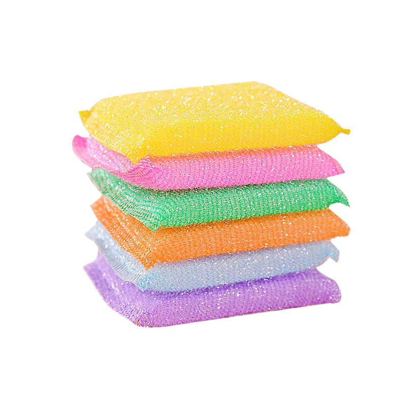 4 pcs Scouring cloth kitchen, dishwasher, sponge oil, cleaning brush, washing bowl,, dish cloth, 3469