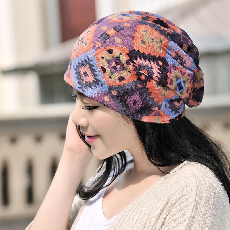 COKK Winter Hats For Women Turban Hat Female Winter Beanie Vintage Ethnic Stocking  Hat Skullies Beanies Chapeu Femme Bonnet-in Skullies   Beanies from ... e178f6242c3