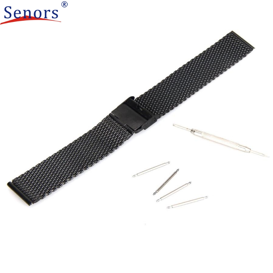 Superior 22mm Stainless Steel Watch Band For Pebble Time Smart Watch+Tool J6272 stainless steel cuticle removal shovel tool silver