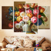 HD Oil Painting Modular Canvas Print Flower Cuadros Decoracion Living Room Pictures On The Wall Unframed