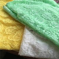 2yards/lot Latest high quality Stretch french lace wedding lace fabric free shipping Light Green ,Yellow and White bridal gown