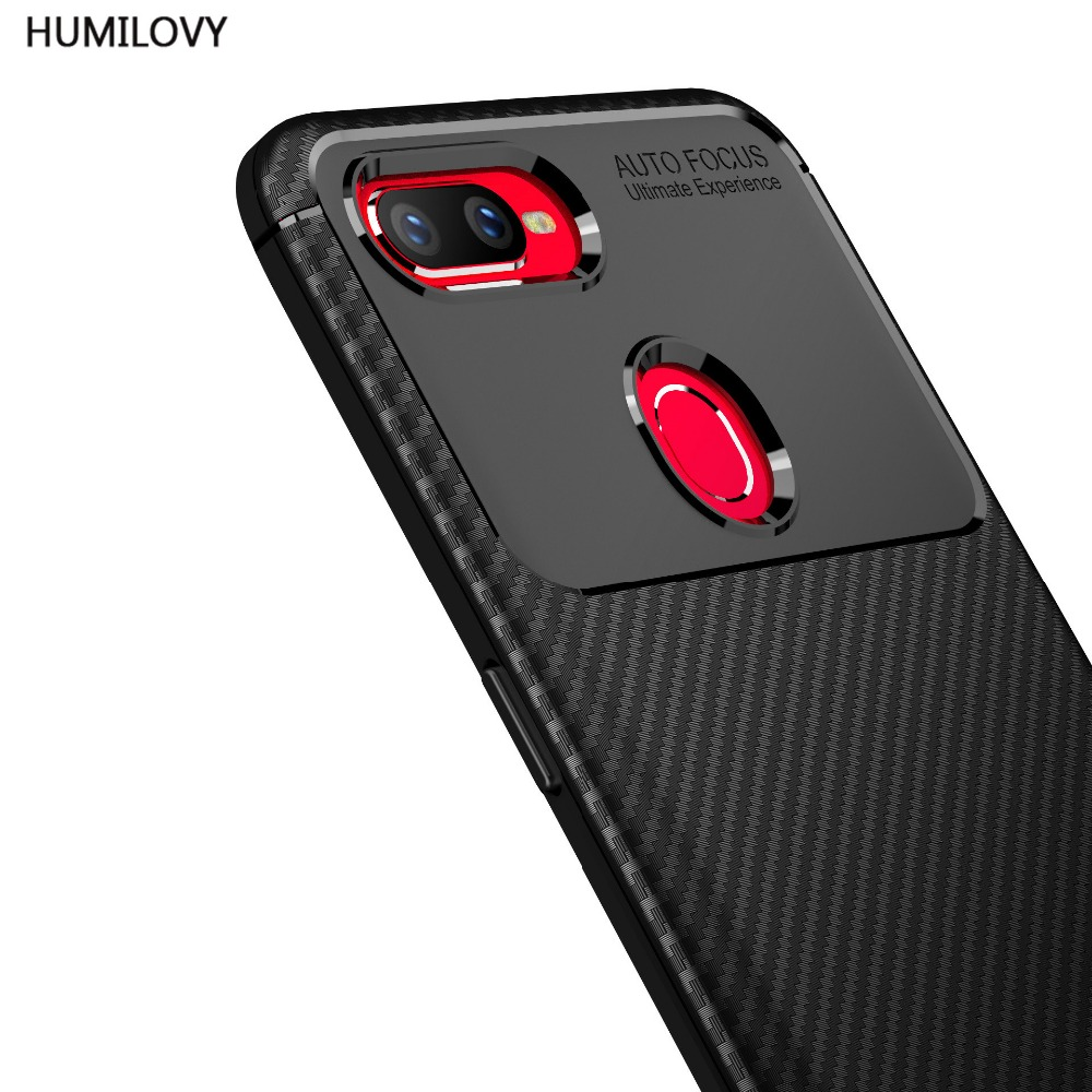 For OPPO Realme U1 Case for Oppo F9 Cover Soft Silicone Carbon Fiber Phone Protection Back Cover For OPPO Realme U1/Oppo F9 Case