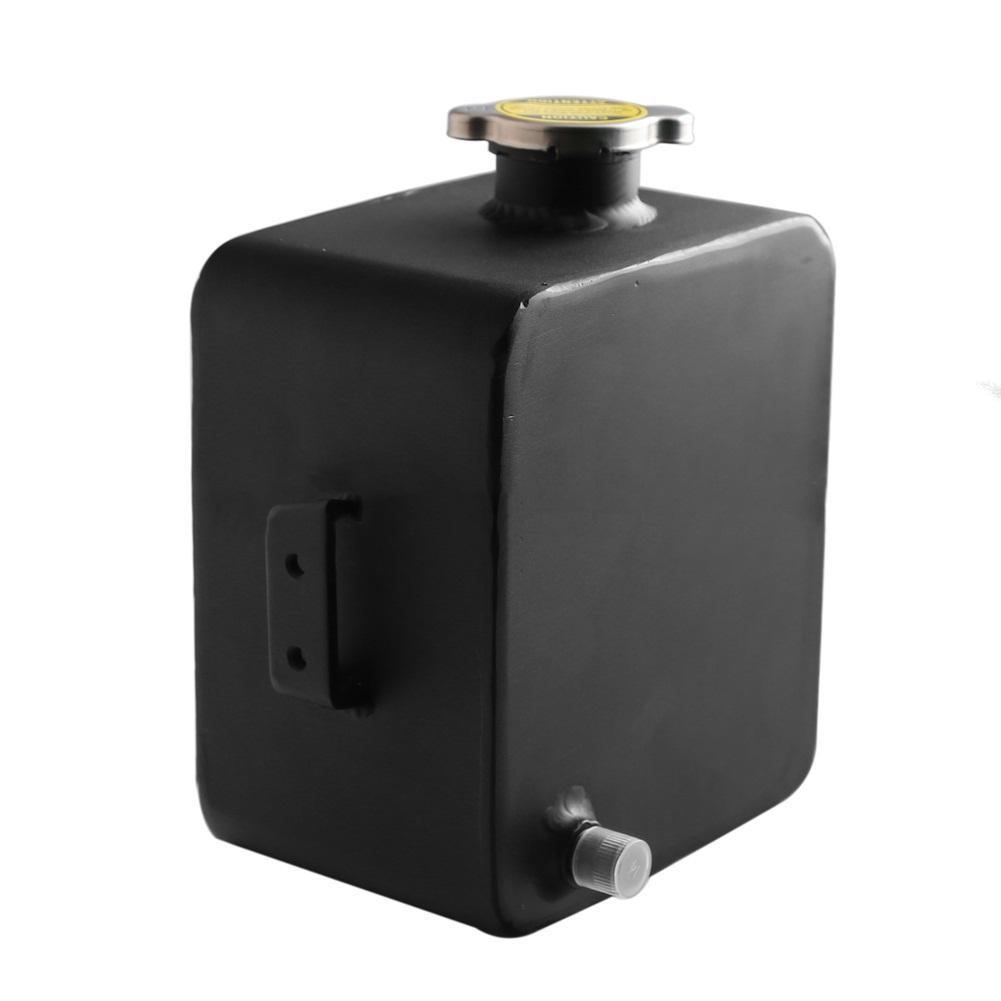 Universel 2.5 Litre en alliage poli en-tête Expansion réservoir d'eau et bouchon réservoir d'eau en-tête liquide de refroidissement réservoir de débordement réservoir Kit