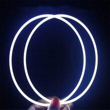 Надеясь 1 пара стайлинга автомобилей COB глаза ангела 160 мм фара противотуманные halo кольца 6000 К источник света