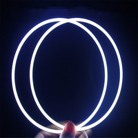 Hoping 1pair Car styling COB Angel eyes 160MM headlight fog lamps halo rings 6000K light source