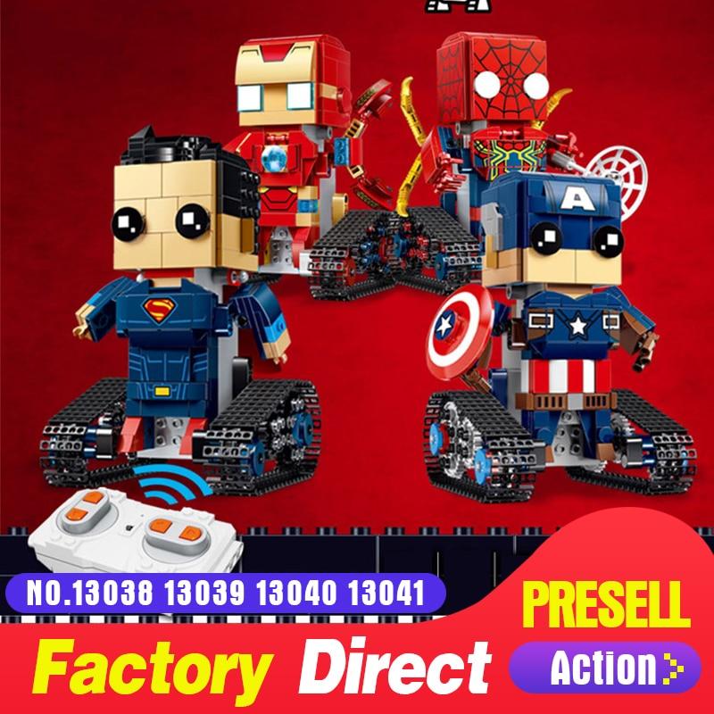 RC Building Blocks Legoing Bricks Figures Remote Control Maveling Super heroes Robot Model IRONMAN SPIDERMAN CAPTAIN SUPERMAN