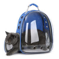 Cat-carrying Backpack for Kitty Puppy Chihuahua Pet Carrier Transparent Capsule Breathable Outdoor Travel Cat Bag Puppy Cave
