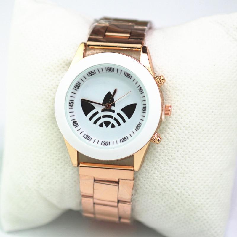 Women Watches men Fashion Luxury Brand Quartz Dress watch Women Sport Rose Gold full steel Bracelet clock Ladies Dropshiping