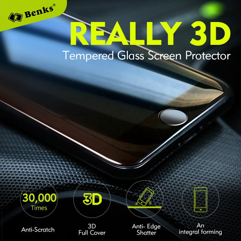 Benks KingKong Anti-scratch Coating Screen Protector For iPhone 7 8 Plus Protective Glass 3D Curved Edge Full Cover Glass Film