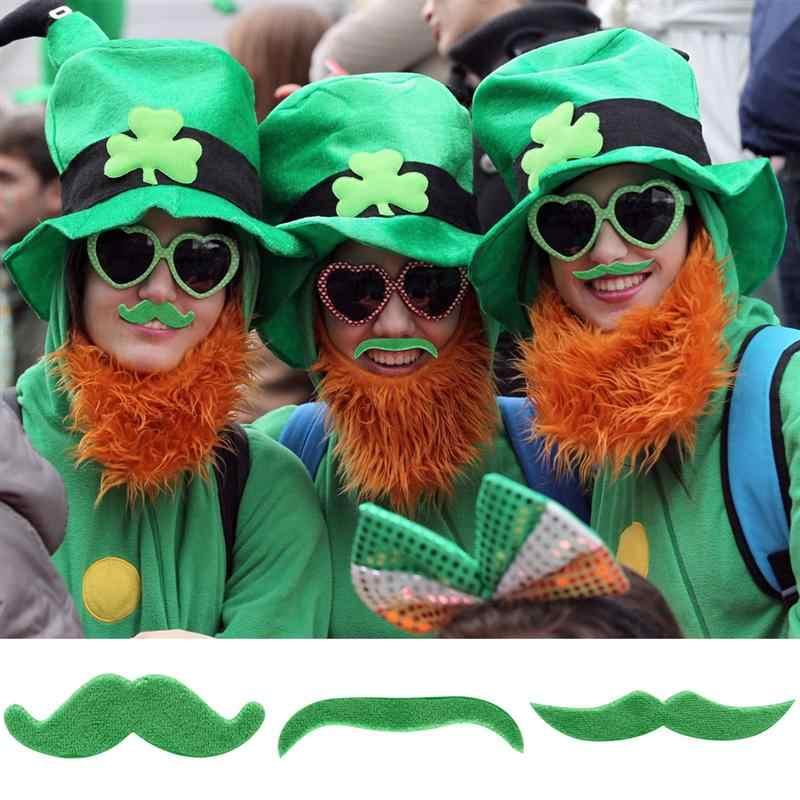 48 шт. самоклеющиеся фотобанк реквизит поддельные усы плюшевый костюм усы вечерние аксессуары для лица на День Святого Патрика