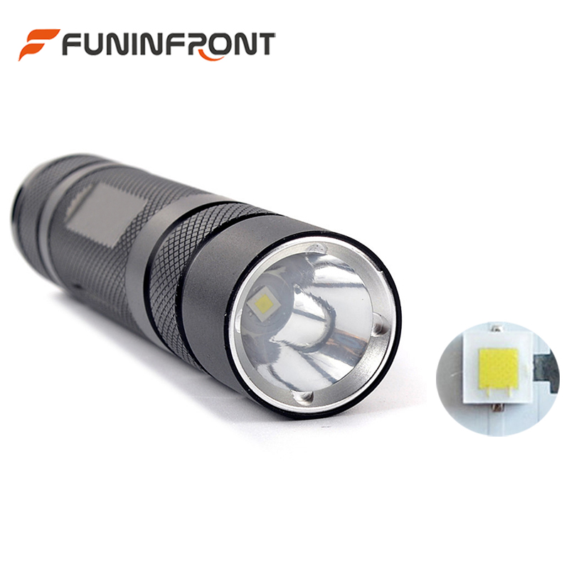 CREE XP-L HI V3 LED Mini LED Flashlight Torch with 5 Files, 1200LMs EDC Pocket Penlight Outdoor Portable Emergency Light Lantern