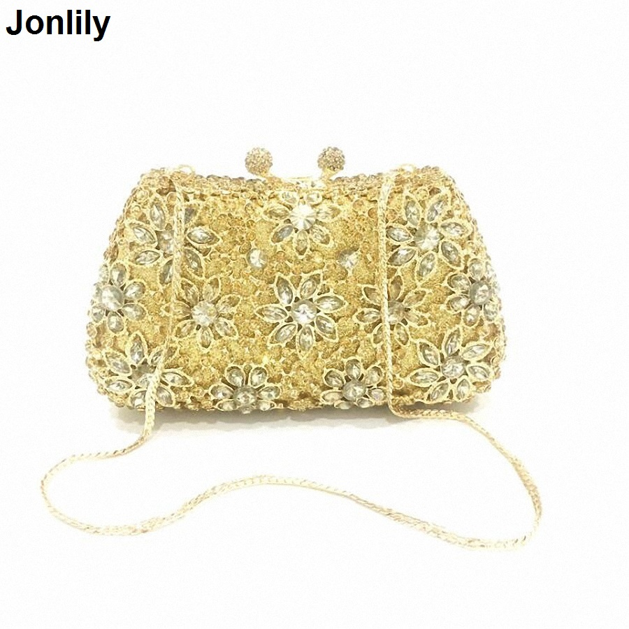 Women Evening Bags Ladies Wedding Party Bag Crystal Hollow Out Day Clutch Diamonds Purses wedding bridal handbag LI-311 women clutch bags diamonds finger ring ladies vintage evening bags crystal wedding bridal handbags purse bags holder