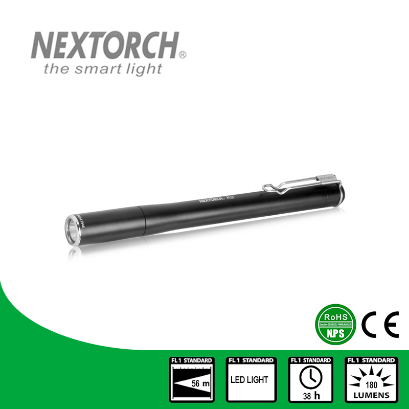 NEXTORCH Penlight Flashlight 180 Lumen Shockproof CE RoHS Waterproof AAA Battery LED Ultra Bright EDC Pocket Flashlight #K3 nextorch flashlight ent 4 2 lumen aaa battery penlight for teeth inspection and ent care doctor k3