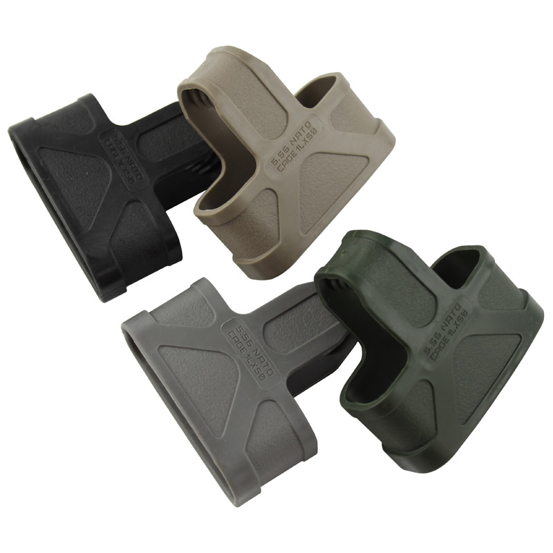 3pcs/5.56 NATO Rubber Cage Loops Fast Mag For M4/M16 Magazine Assist Sand