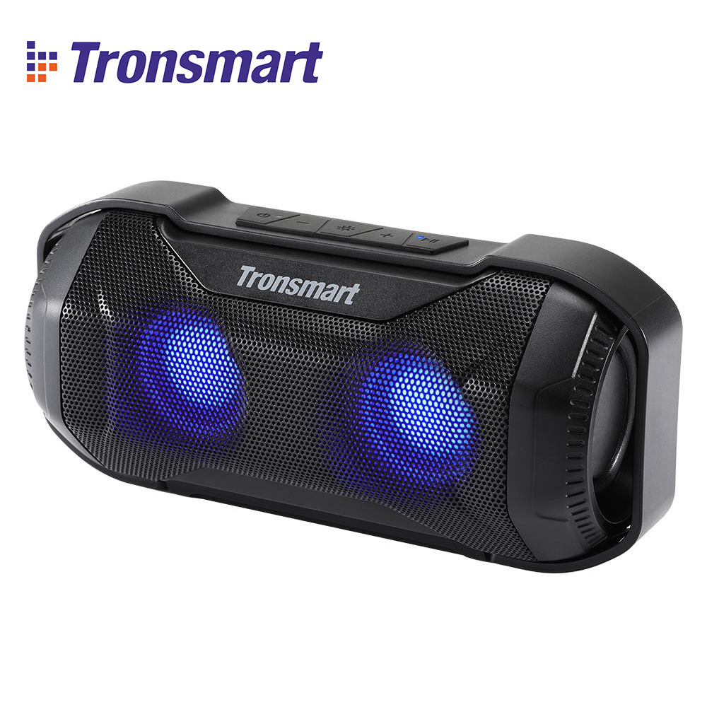 Original Tronsmart Element Blaze 10W Portable Bluetooth Speaker with Superior Bass LED Lights IPX56 Water Resistant
