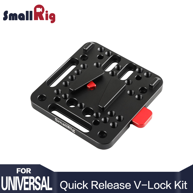 SmallRig Camera Video Battery Plate Kit Pemasangan V-Lock Quick Release Set Berdasarkan Rig Kamera V-Lock Standard - 1846
