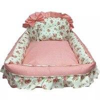 Nest Of High Quality Cotton Fabrics Winter Warm Pet Dog Bed Soft Fleece Dot Design Pet