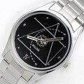 Спортивные часы Wilon 2318 Г Пару Часов Для любителей Да винчи Стиль Аналоговый Кварцевые Часы Из Нержавеющей Стали Ремешок Платье часы