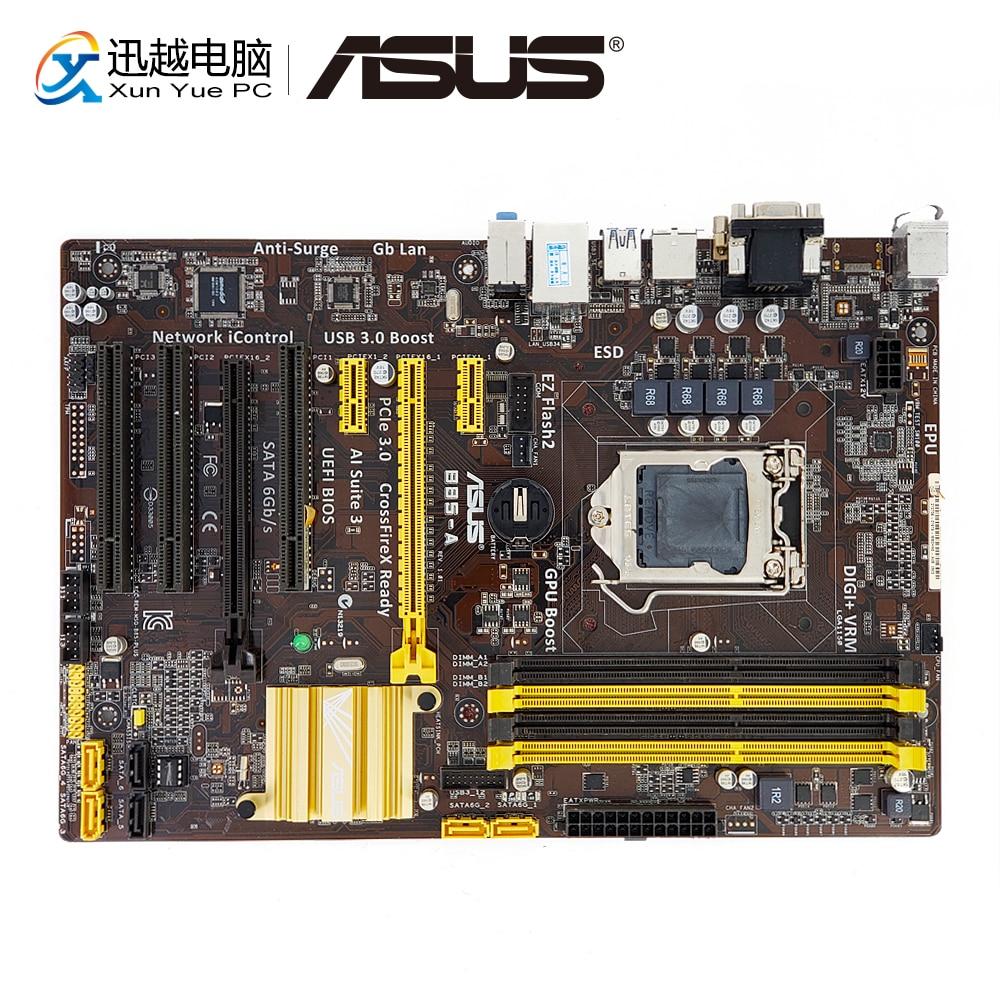 Asus B85-A Desktop Motherboard B85 Socket LGA 1150 i7 i5 i3 DDR3 32G SATA3 USB3.0 VGA DVI ATX asus b85 d3v a motherboard b85 lga 1150