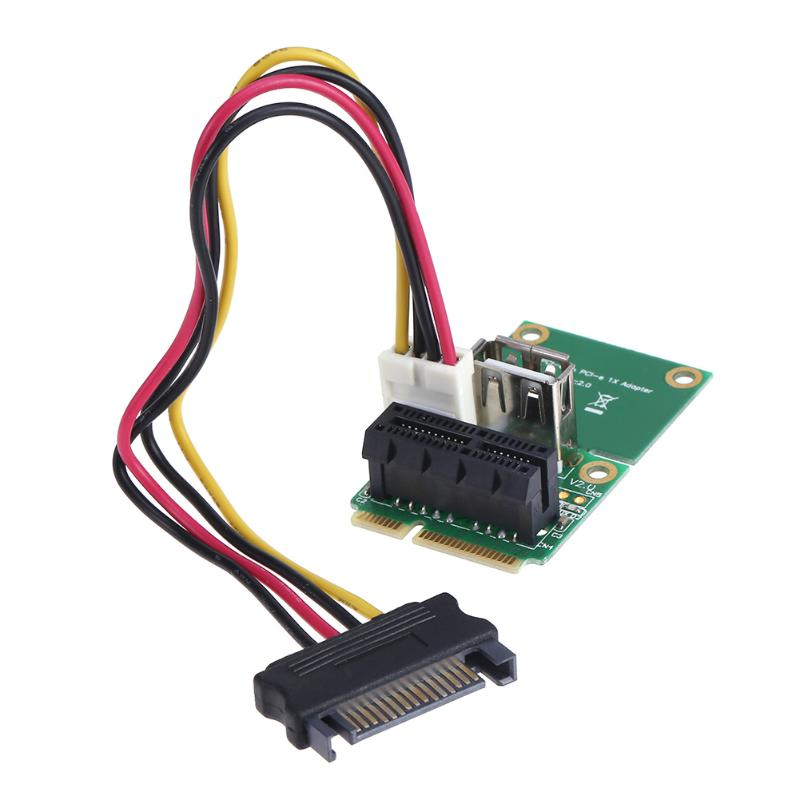 PCI-E 1X to Half/Full Mini PCI-E Board USB Adapter PCI Express Interface Card with 4 Pin to SATA Power Cable industrial equipments board ipc 6113lp4 rev b3 pci 4 isa 9 interface