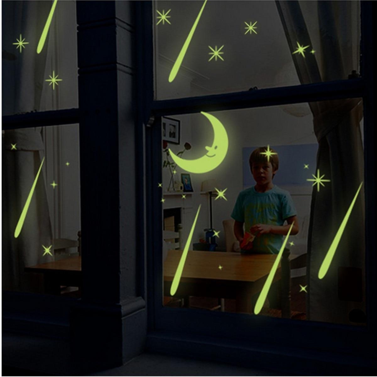 Meteor Shower Luminous Wall Stickers Livingroom Home TV Wall Home Decor