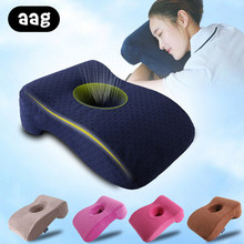 AAG Nap Pillow Slow Rebound Memory Foam Breathable With Hole Lunch Break Pillow Travel Office Table