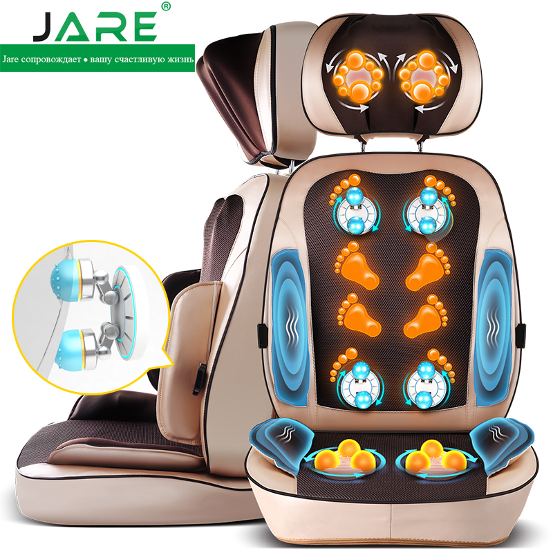 Jare neck cervical vertebra massager back waist massage pillow multifunctional household massage cushion pad vintage rhinestone geometric pendant necklace for women