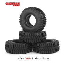 SURPASS HOBBY 4Pcs 3020 RC Car Tires 1.9inch Rubber Tyre Set for RC4WD D90 CC01 1/10 Rock Crawler Climbing
