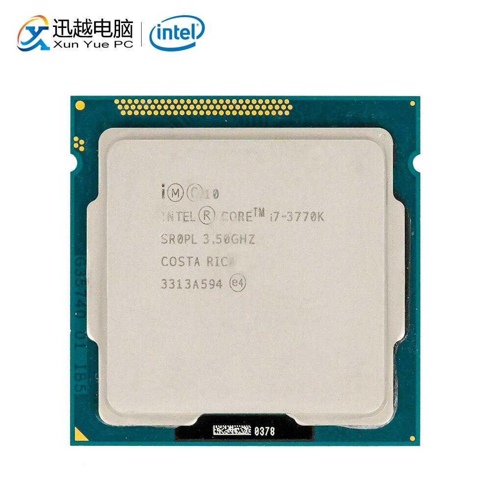 Intel Core i7-3770K настольный процессор i7 3770 K Quad-Core 3,5 ГГц 8 Мб L3 Кэш LGA 1155 сервер, используемый для Процессор
