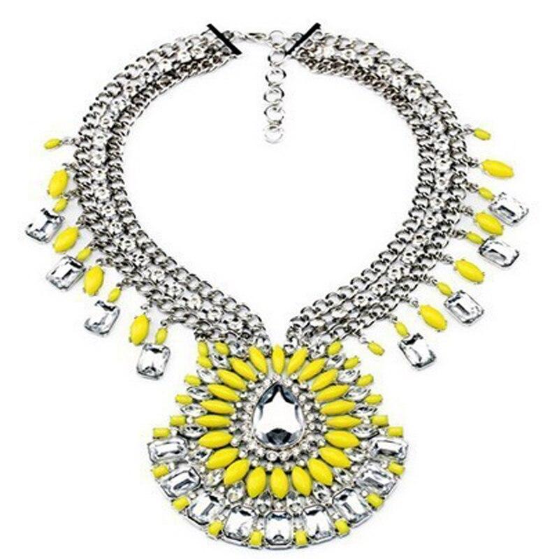 Shourouk Fashion Exaggerated Pendant Necklace For Women 2014 Statement Big Choker Quality Luxury Jewelry Fashion Brand