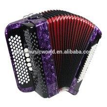Afanti Super popular 72keys 96Bass Purple Piano Accordion AFA-55 music instrument accordion