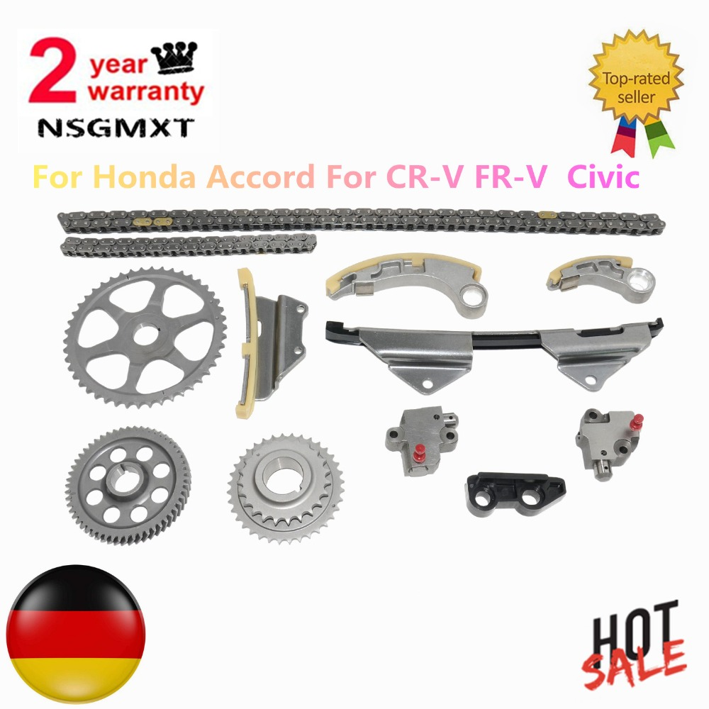 AP03 New Timing Chain Tensioner Sprockets Pump Kit For Honda FR V CR V III N22 N22A1 N22A2 14210RBDE00 13441RBDE01 91212RBDE02|  - title=