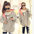 2016 Women'S Korean Clothing Hoodies Sweatshirts Hoodie Cotton Gray Pink Red Grey Hoody Sweatshirts Women Pullovers