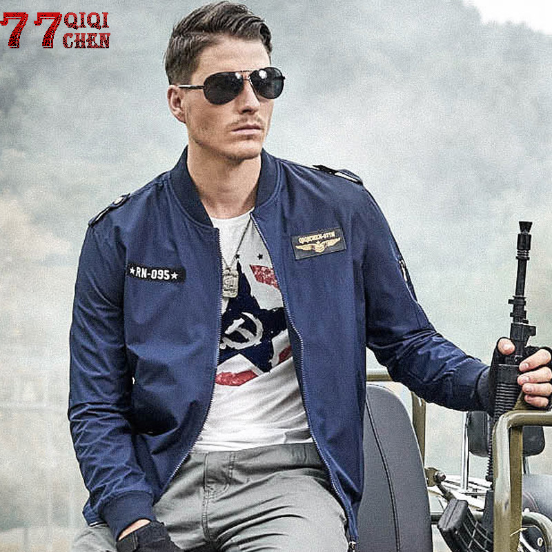 Men Flight Jacket print Military Jacket Mens Autumn Spring Casual Air Force bomber Baseball Coat Male Plus Size <font><b>6XL</b></font> <font><b>hombre</b></font> image