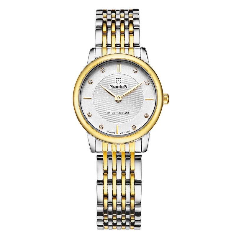 Nuodun Simple Watch Women Fashion Quartz Watches Stainless Steel New Luxury Brand Ladies Quartz Watch Montre