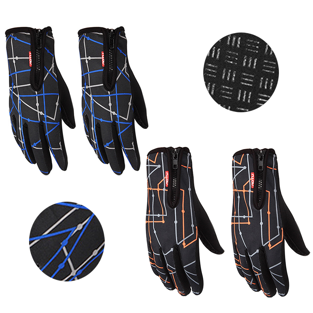 Unisex Outdoor Waterproof Touch Screen Gloves Sports Bicycle Motorcycle Cycling Gloves Winter Ski Mittens guantes ciclismo
