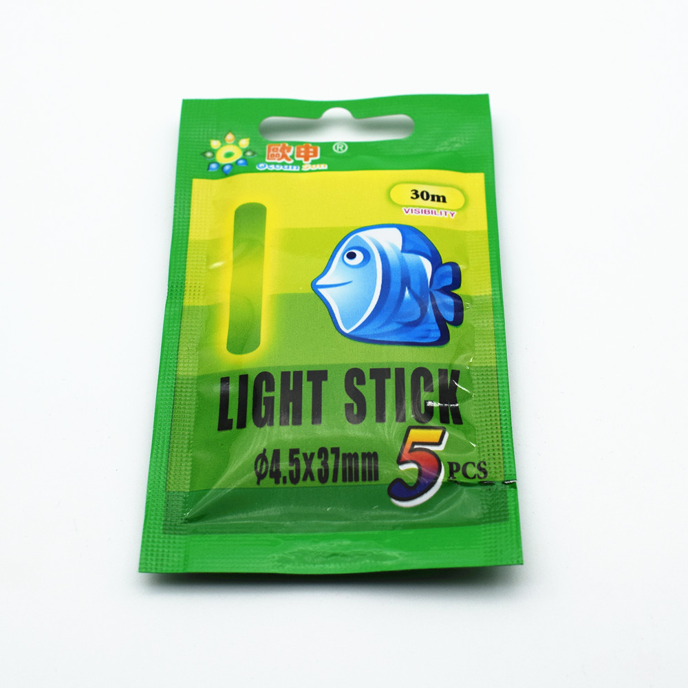 100pcs 20packs 4 5 37mm 3 0 25mm Light Stick Fishing Fluorescent Lights Chemical Luminous Fishing Glow Sticks Green Color in Fishing Float from Sports Entertainment