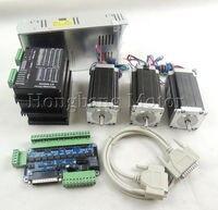 CNC Router Комплект 3 оси комплект st m5045 (Замените 2M542) драйвер + 5 оси коммутационная плата + Nema23 425 унций в двигатель + 350 Вт источника питания