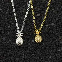 Minimal Pineapple Necklace Women Charm Boho jewelry Collier Bijoux Femme Stainless Steel Chain Pendants Necklaces 2018 Aloha BFF(China)