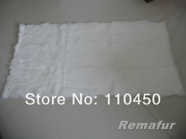 Free Shipping Natural White Rabbit Fur Plate(Factory Shop)