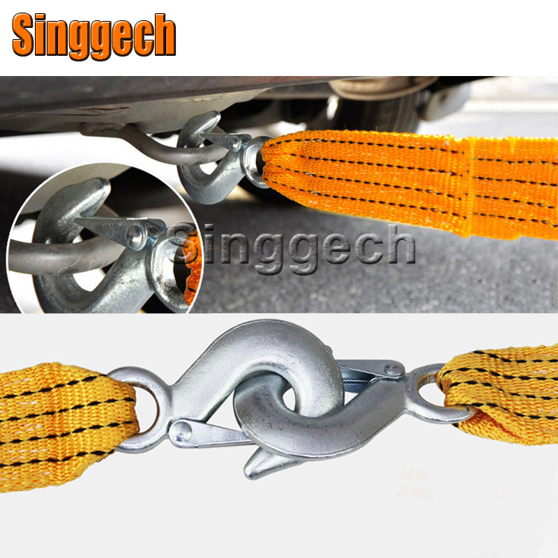 1X Car Towing Rope 3 Meters 3 Tons For Peugeot 307 206 308 407 207 2008 3008 508 406 208 For Citroen C4 C5 C3 C2 Accessories peugeot 307 1 6 hdi