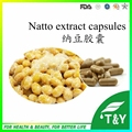 Suplemento Alimentar funcional Complexo Nattokinase Natto Extrato Vegetariano Cápsulas de 500 mg * 200 pcs