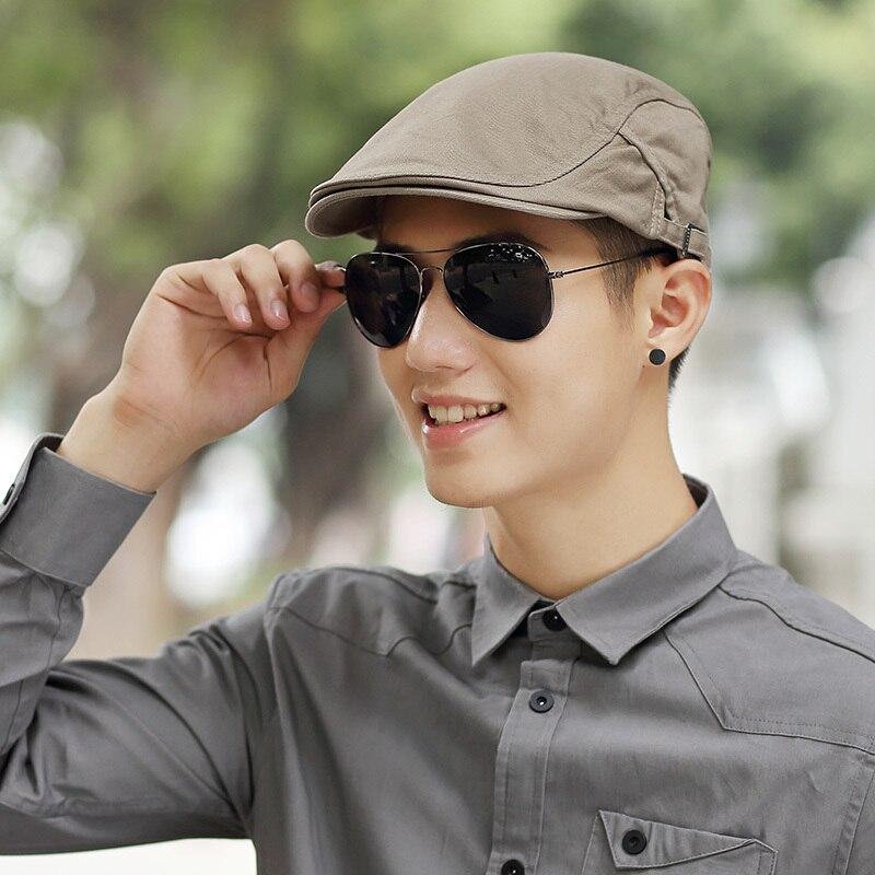 Mannelijke zomer solide krantenverkoper Caps heren Casual klimop hoed - Kledingaccessoires - Foto 2
