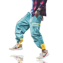 Baggy Cargo Sweatpants Male Hip Hop Vintage Cargo Loose Trousers Man Fashions Men Green Ankle Pants