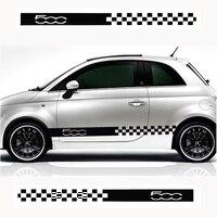For Fiat 500 015 ABARTH Stylish car body sticker vinyl body decal Side Sticker Car accessories