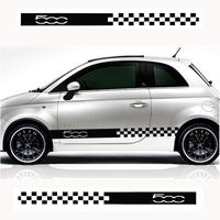 For Fiat 500 015 ABARTH Stylish car body sticker vinyl body decal Side Sticker Car accessories
