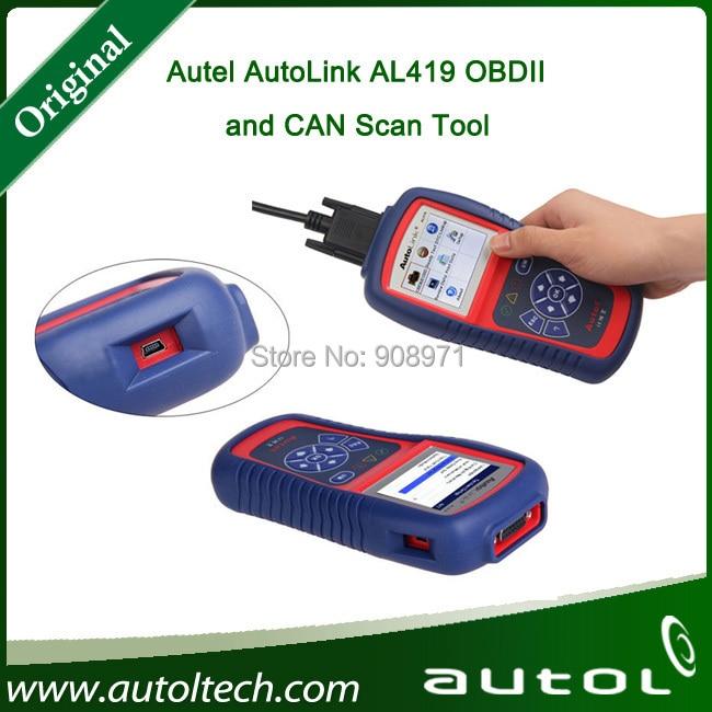 Цена за Autel автоссылки AL419 OBD II / EOBD сканер OBD2 тестирования автоссылка диагностический код двигателя читатель
